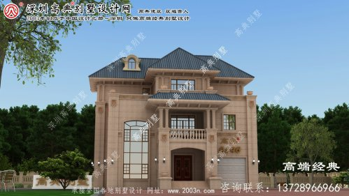 靖江市三层奢华建造楼房设计图