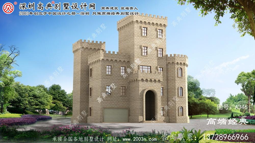江东区豪华西式城堡五层别墅外观