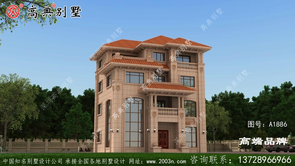 四层自建房设计图南北通透的大户型