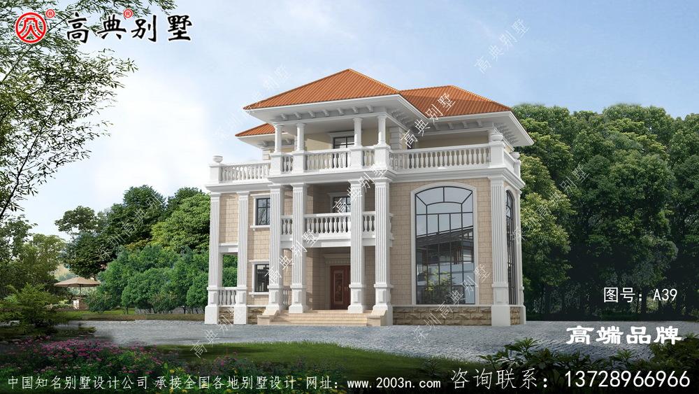 农村住宅楼设计图造型已简约为主。