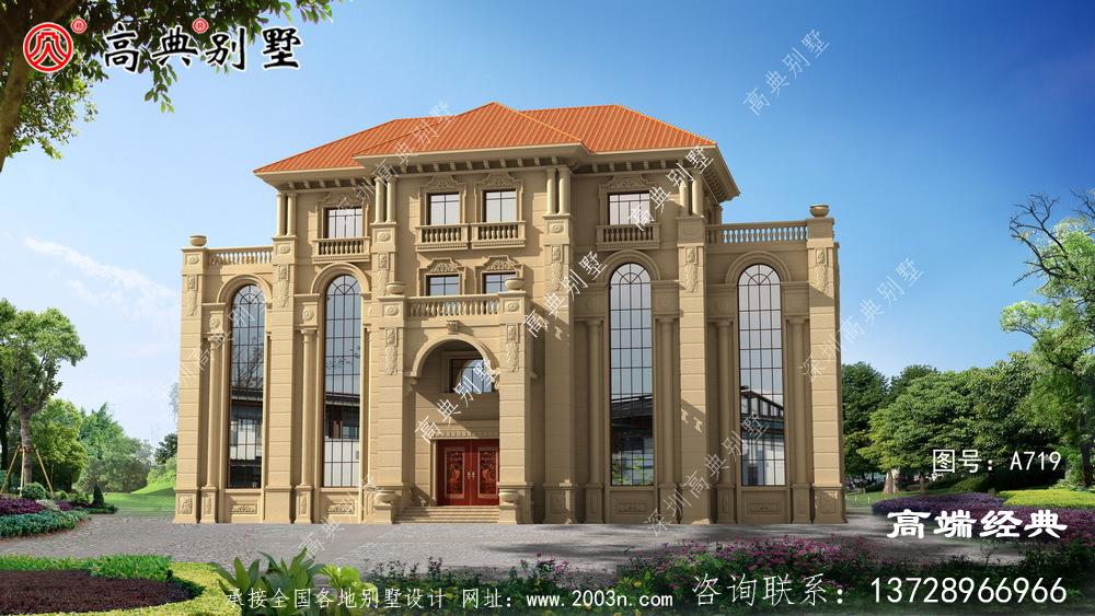 兴化市独栋 四层 别墅设计图 ,奢华 大气