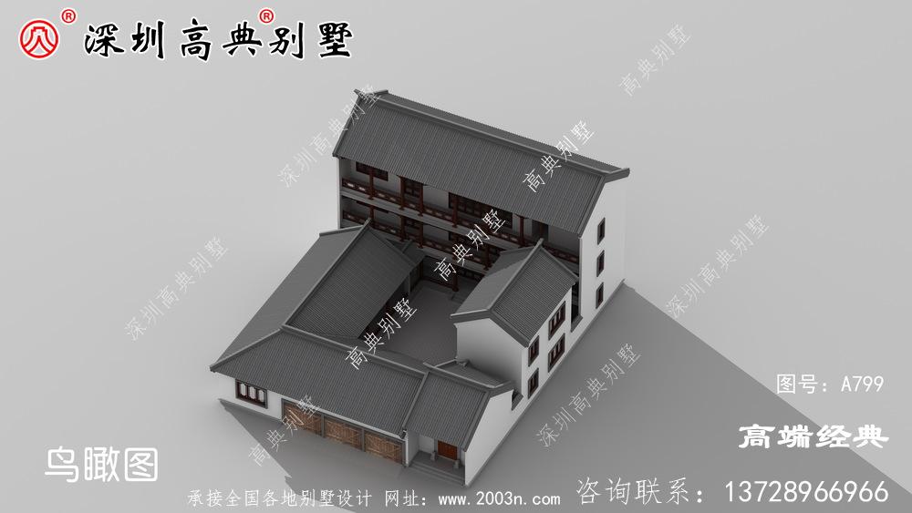 别墅设计图,建给父母做养老房正合适
