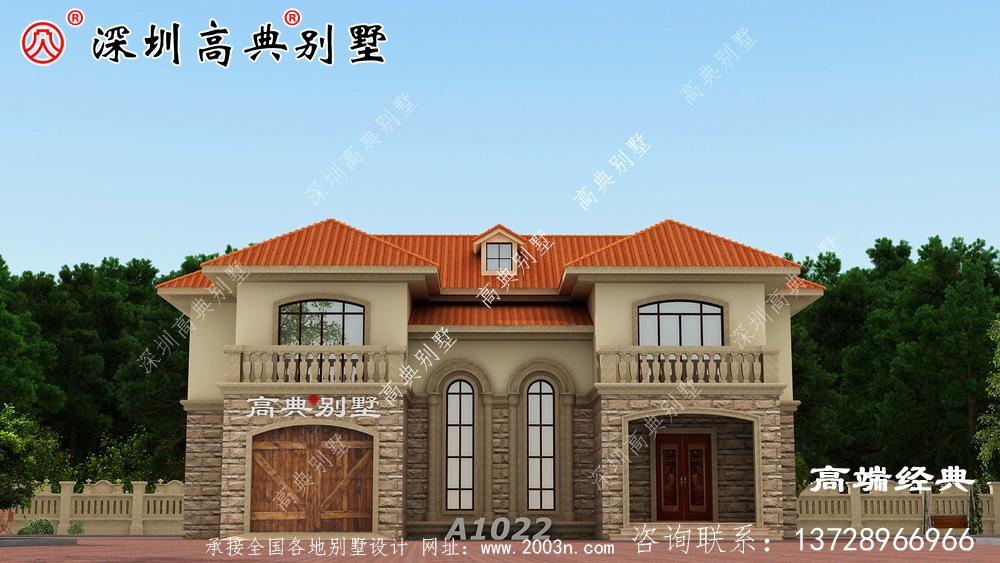 农村小别墅设计图,造价都很经济,预算在20万左右