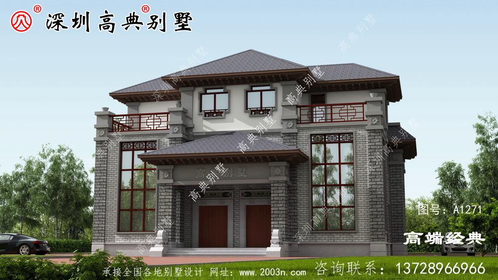 四合院住宅设计图,外观精致漂亮,方正大气,深受大众的喜爱