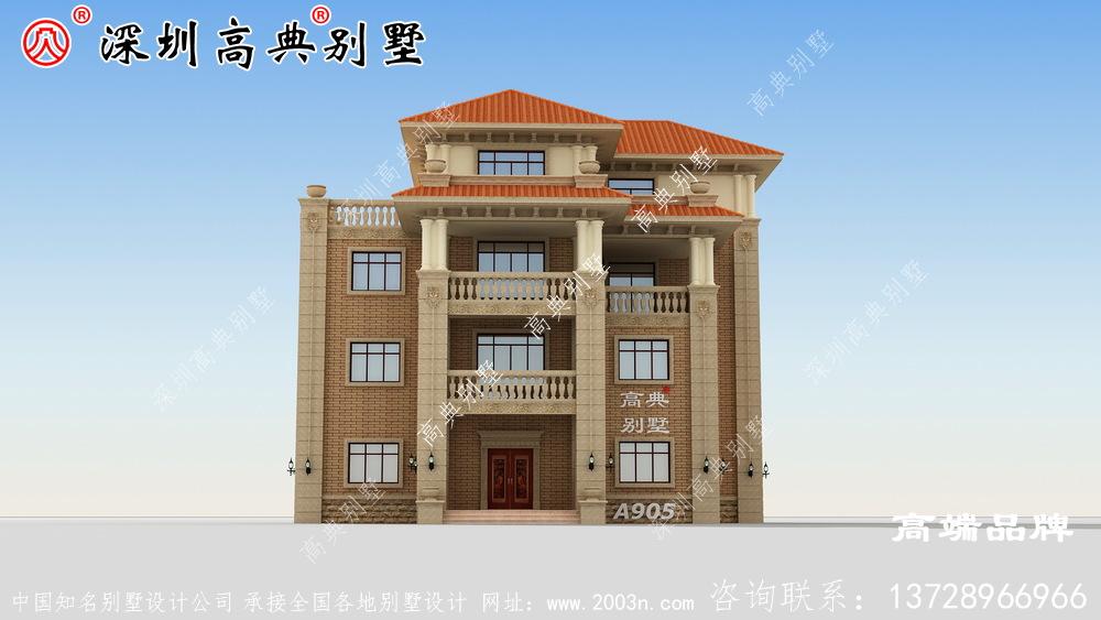 乡村 四层别墅 设计 ,时尚 大气 又温馨 实用 ,非常适合 乡村 建筑 !