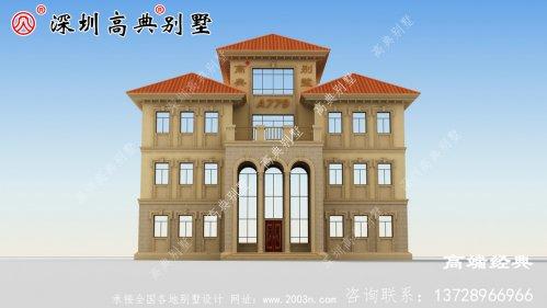 乡村三层半自建住宅设