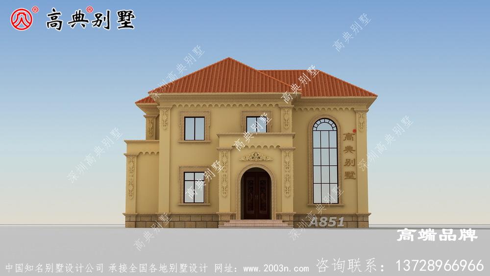 农村两层复式别墅兼顾生活居住和休闲娱乐功能
