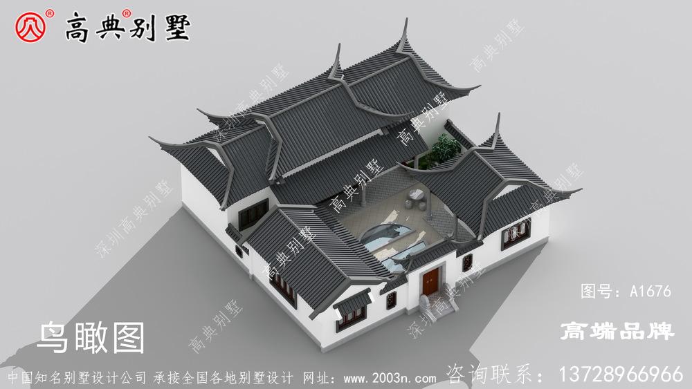 斜屋顶造型富有层次感,整体配色和谐经典让人眼前一亮