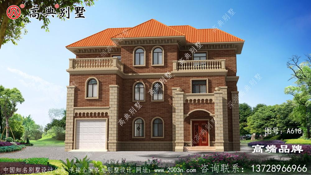 年轻人喜欢住漂亮的房子,在农村建别墅也是一样