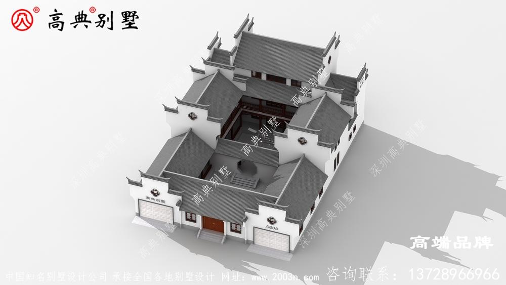 庭院三层别墅有独特的中式新风格