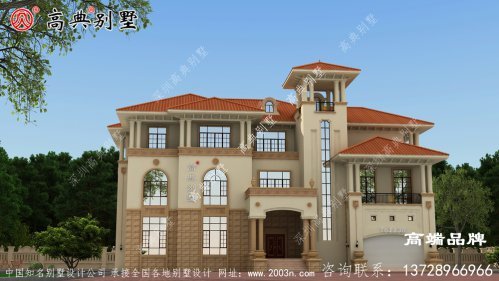 建筑为经典的欧式风格