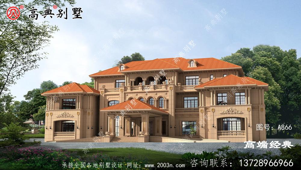 欧式自建别墅,美观而不俗气,老家建房的不二选择。